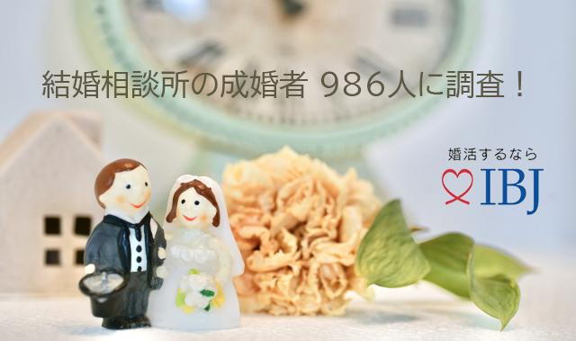 IBJ 成婚者アンケート