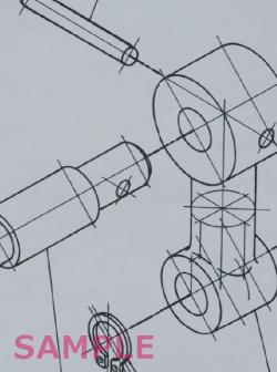 2級 テクニカルイラストレーションCAD 課題の作図例
