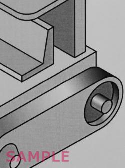 3級 テクニカルイラストレーションCAD 課題の作図例