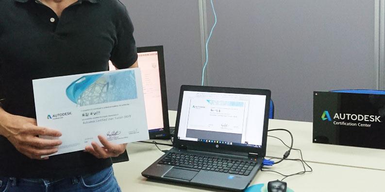 CADCIL オートデスク認定資格プログラム ユーザー試験 認定証