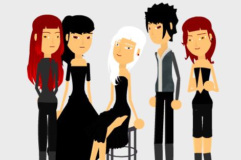 De gauche à droite : Sebastian, Solitia, Gamma, Lambda, Sebastiane