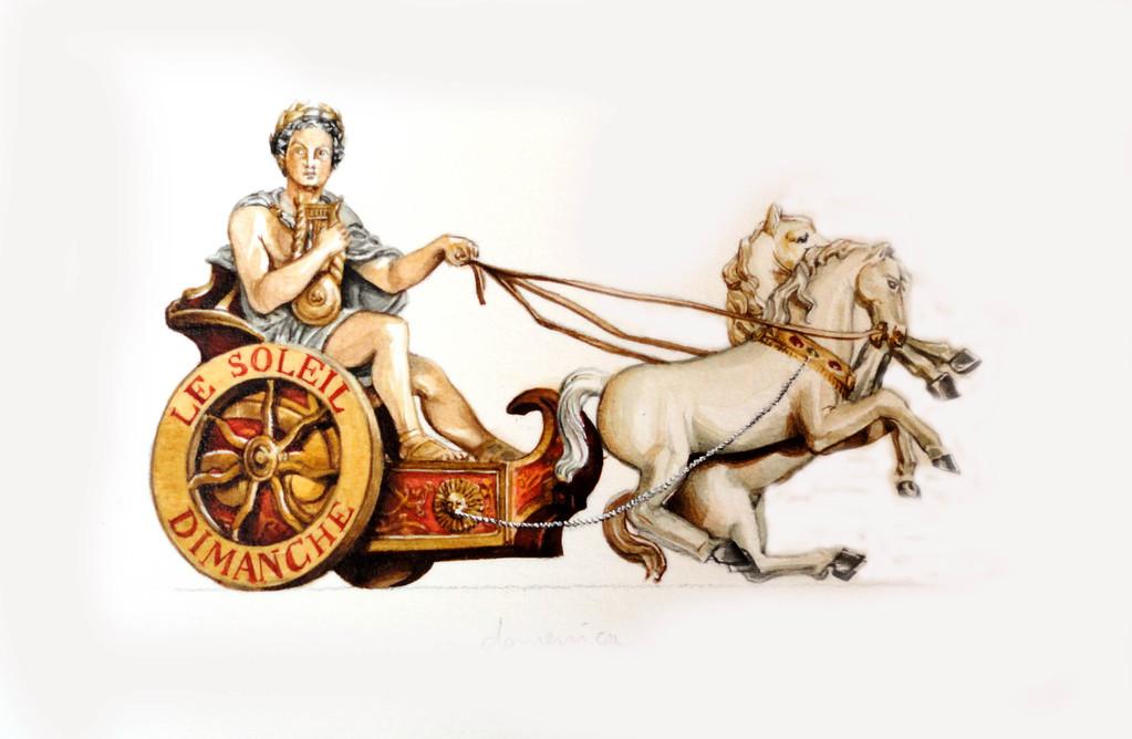 Domenica: il carro del sole guidato da Apollo