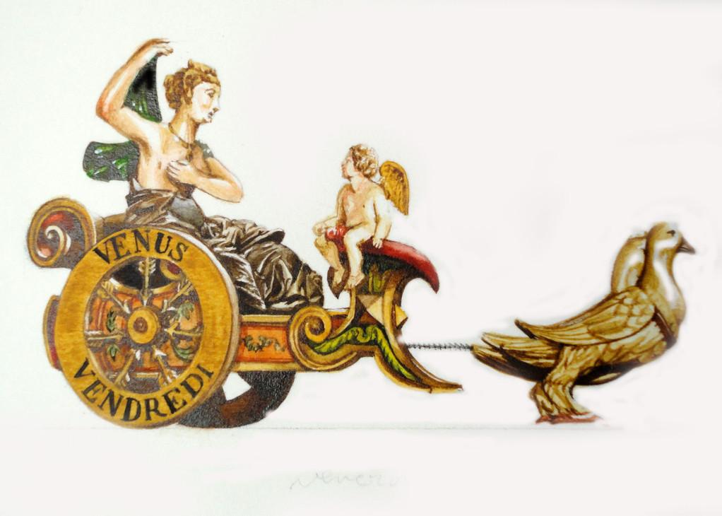 Venerdì: carro che trasporta Venere
