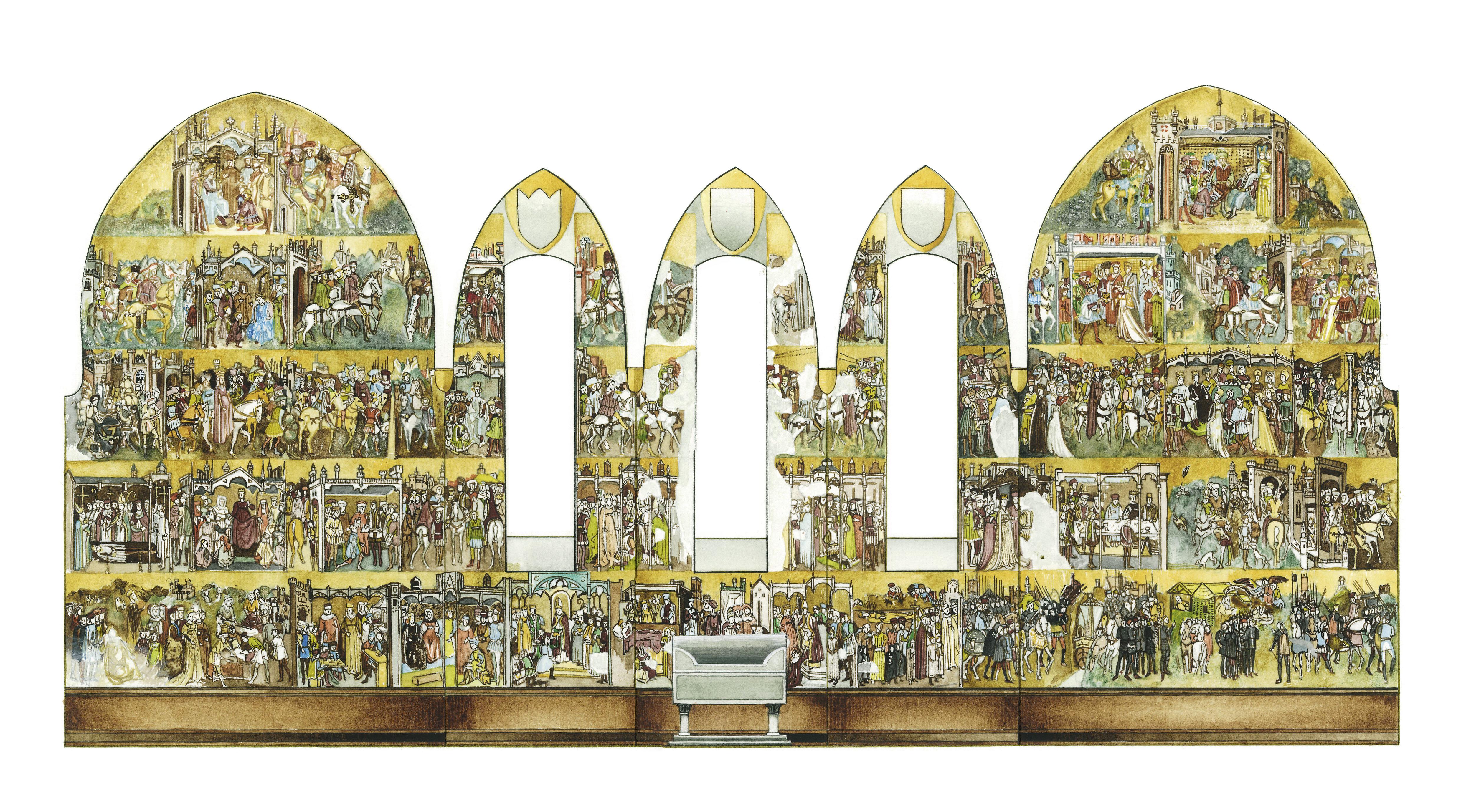 Nella cappella di Teodolinda, è situato il più importante ciclo lombardo di affreschi quattrocenteschi sulla Leggenda di Teodolinda.