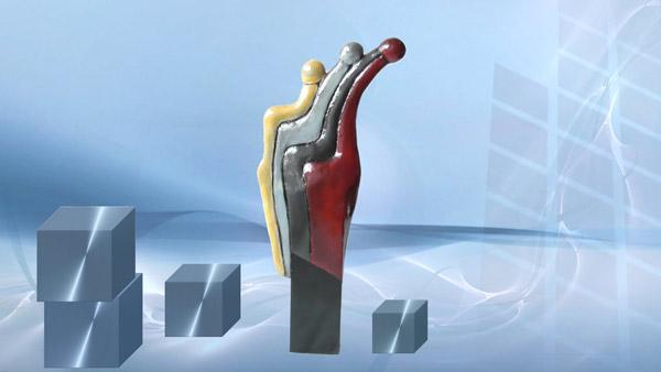 Abstrakte Skulpturen und Deko Figuren