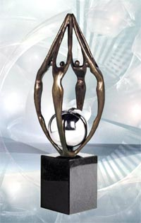 """Skulptur """"Zusammenarbeit"""""""