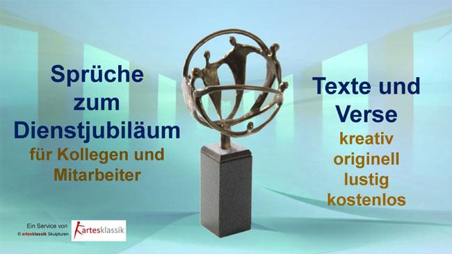Sprüche zum Dienstjubiläum für Kollegen und Mitarbeiter – Texte und Verse kostenlos