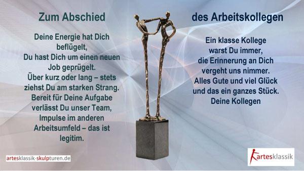 Texte Und Spruche Zum Abschied Von Kollegen Artesklassik Skulpturen
