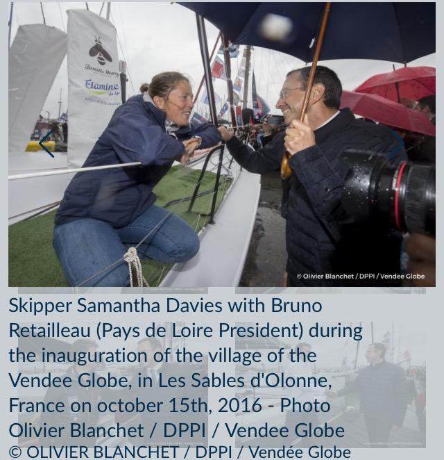 かつて出場したイギリスのSam Daviesが訪れロアール州知事と話す