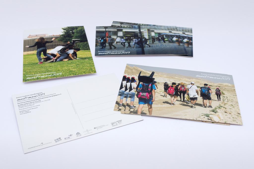 Postkarten zur Fotoausstellung mail@more 2015