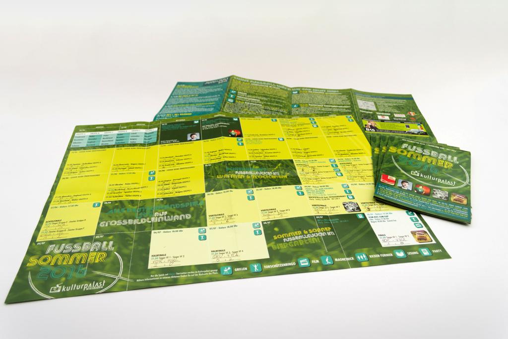 EM-Faltplan 2016 mit Terminkalender und Spielplan