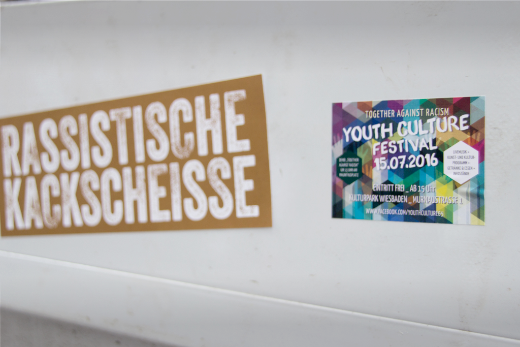 "Youth Culture Festival 2016 ""Together Against Racism"" - Werbeaufkleber"