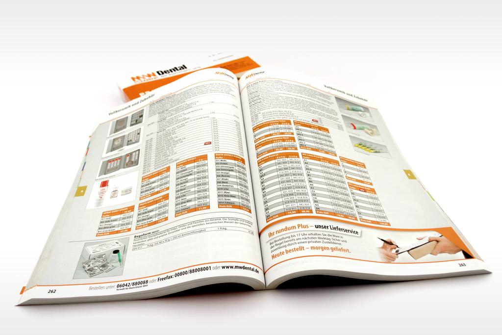 M+W Dental Katalogsatz mit EasyCatalog und PIM im Auftrag vom 8hdirekt