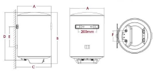 termo eléctrico vertical características técnicas