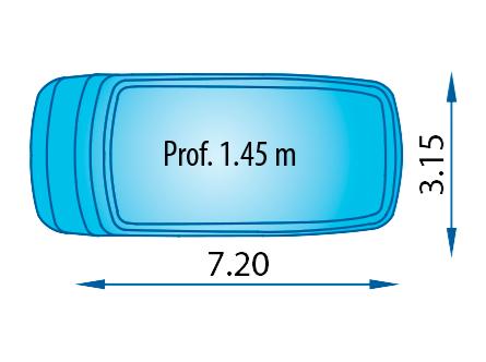 piscina poliester ovalada S-720