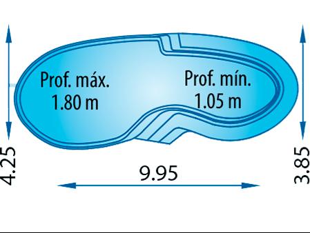 piscina poliester forma riñon Elipsa 1000