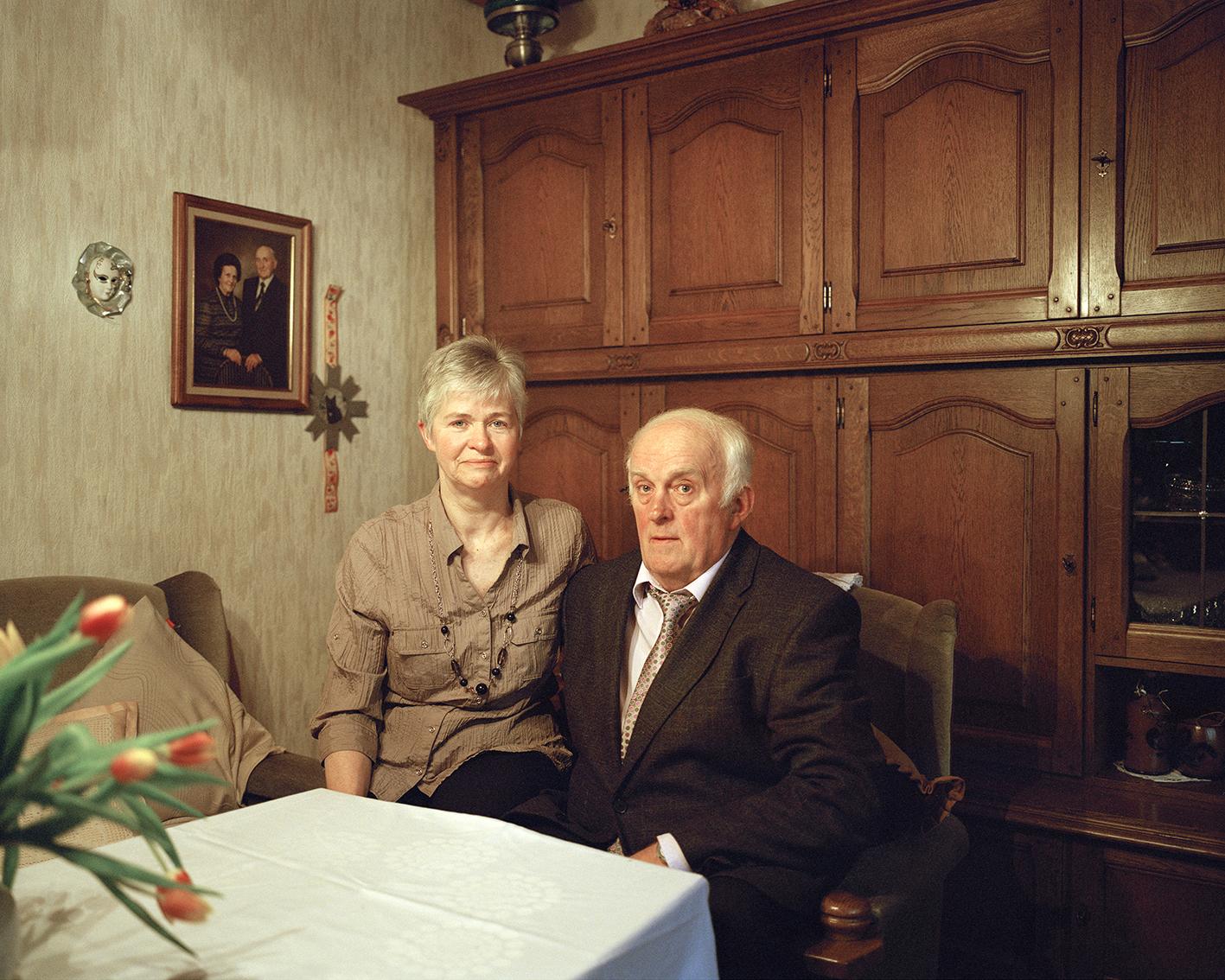 """Portrait Heinz-Ludwig und Margret Steinrücken (Schützenpaar 1987), aus der Serie """"Bruchhausen"""", aus der Serie """"Bruchhausen"""""""