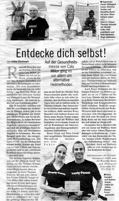 Mallorca Zeitung vom 30.04.2009