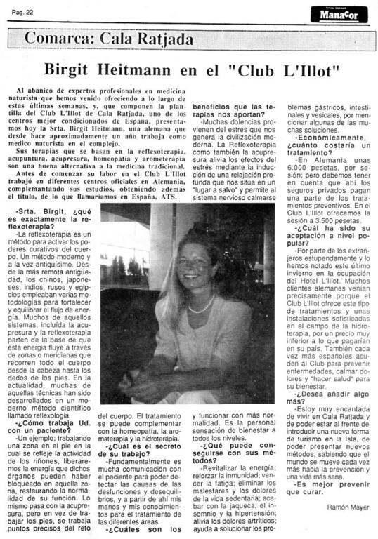Manacor Revista vom 18. Mai 1993