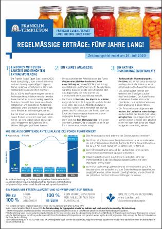 Link zum Datenblatt Franklin Global Target Euro Income 2025 Fund