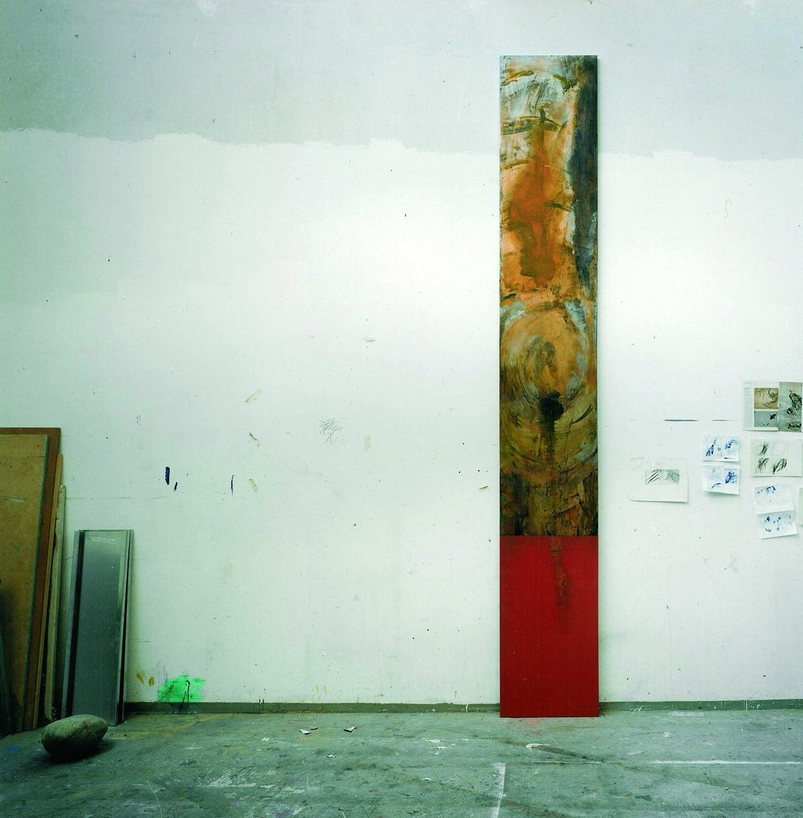 Metall Ätzung , Atelier Situation  400 x 90 cm