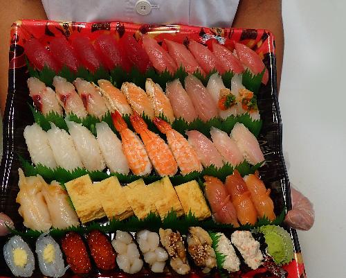 納会 品川区 宅配寿司