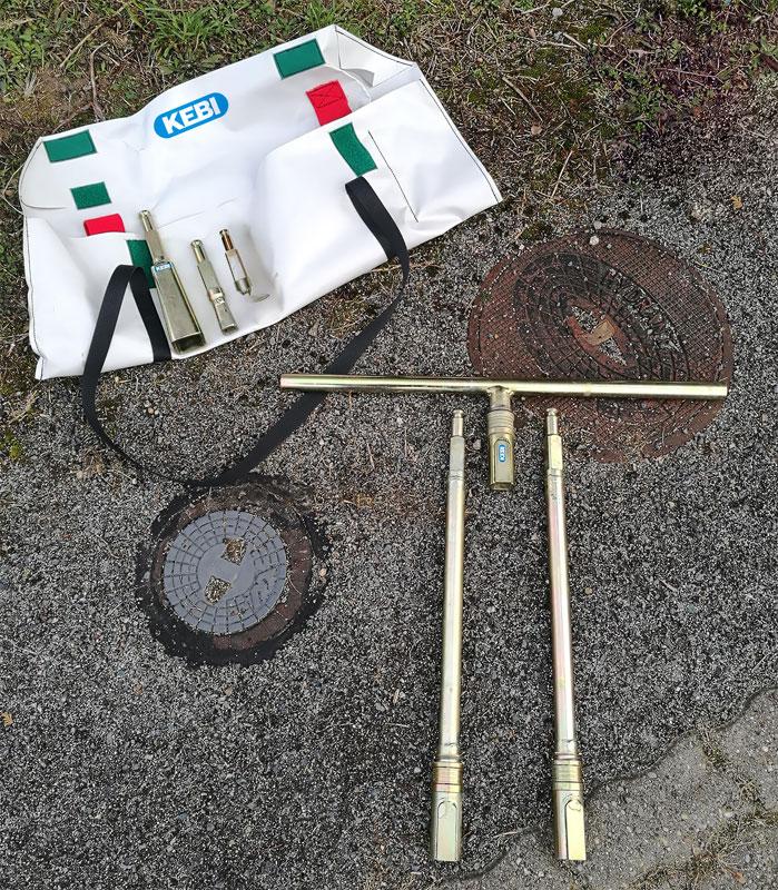 KEBI Multi Schlüssel Kompletter Öffnungsschlüssel für die Wasser und Abwasserwirtschaft