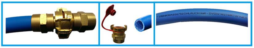 Unter zeitlich befristetem Transport versteht man den Einsatz bei Notversorgungen, Messen, Volksfesten u.s.w.  KEBI - Trinkwasserschläuche erfüllen alle genannten Anforderungen:  Geprüft und zugelassen nach KTW, DVGW W 270 und DVGW VP 549 / VP 550  Geruch