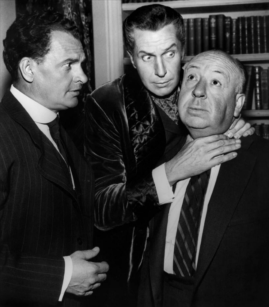 James Gregory  Vincent Price et Alfred HItchock   1961