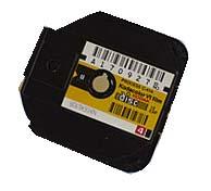 la cassette toute prête à mettre dans l'appareil et à confier à un labo