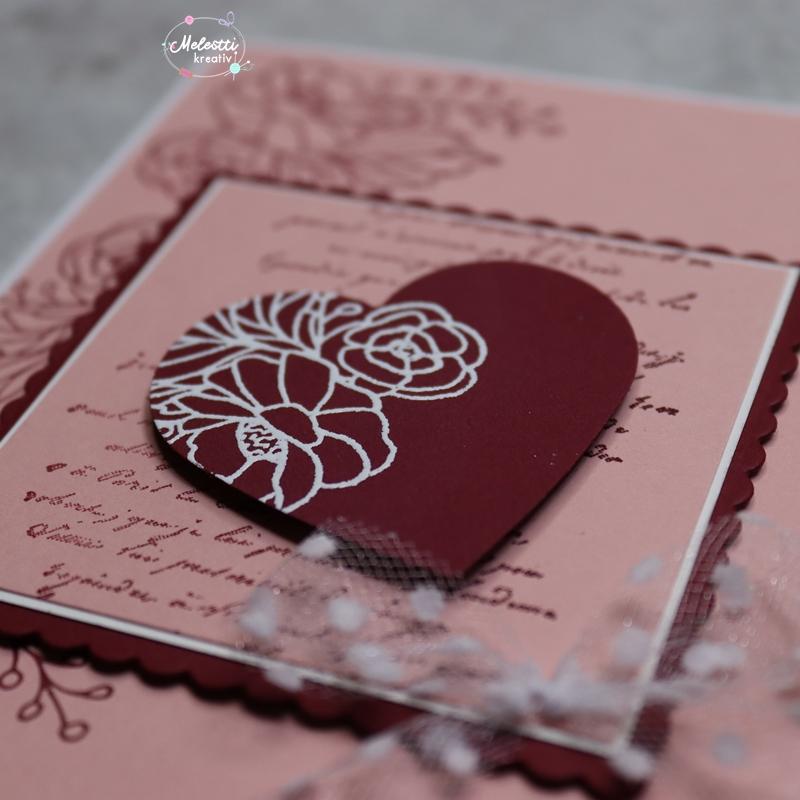 Verlobungskarte mit Herz