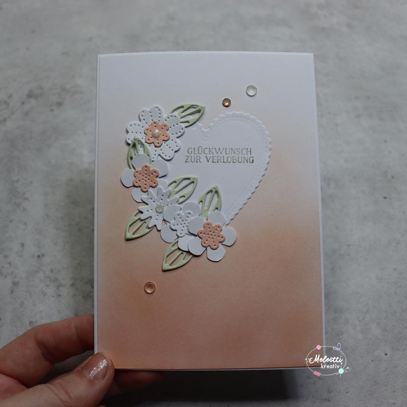 Verlobungskarte in Pastell