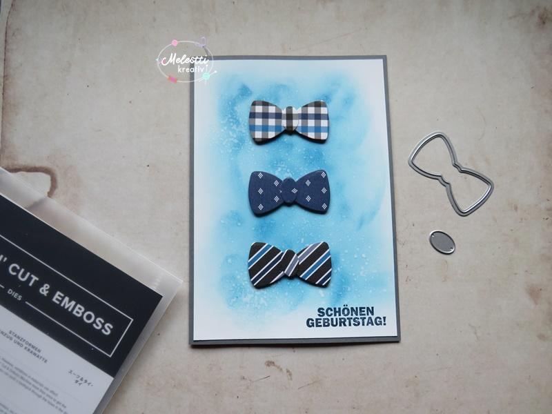 Männerkarte mit Fliegen