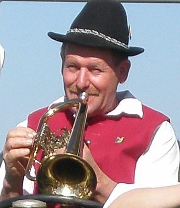 Hans Milz, Flügelhorn, aktiv seit 1962