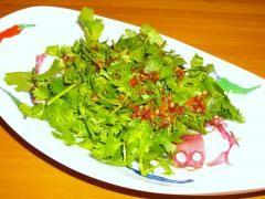 香菜とたこのサラダ
