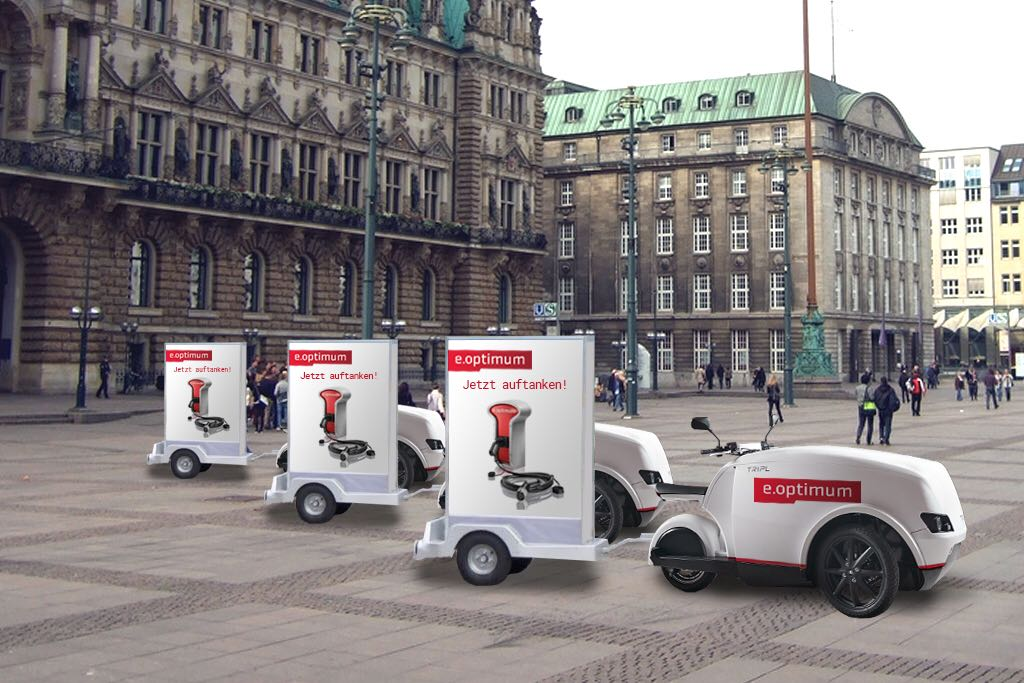 TripL Scooter von Evectro  mit e.optimum Wallbox