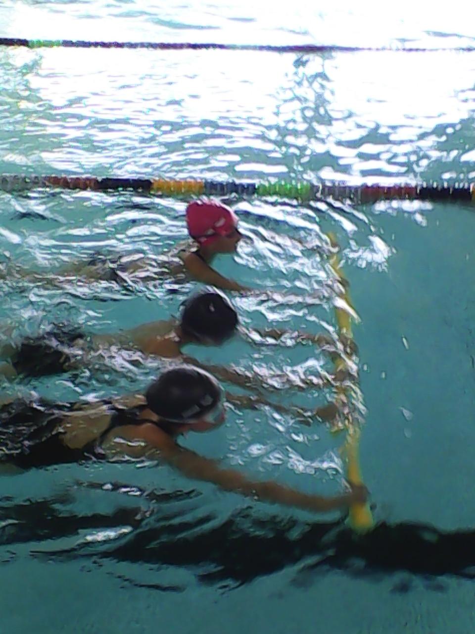 Nager à plusieurs....Apprendre la cohésion d'équipe.