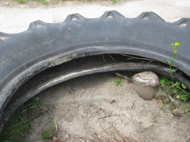 Defekte Reifen