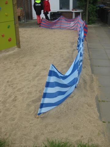 Windschutz als Sandschutz