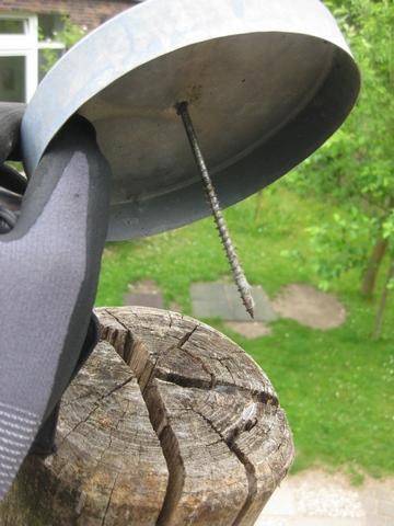 Schrauben lösen sich im Holz