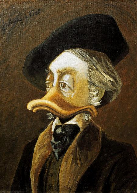 "Postkarte ""Portrait Richard Wagner"",nach Lenbach"