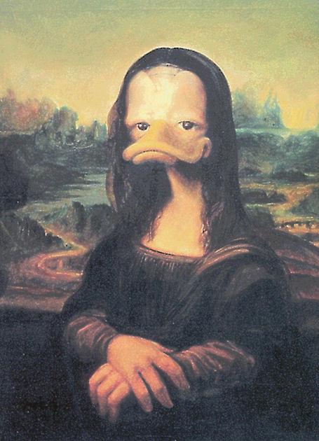 "Postkarte ""Mona Lisa"""