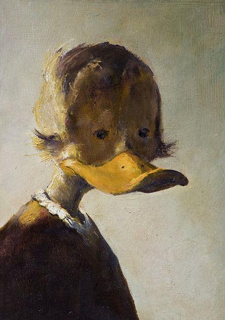 """Postkarte """"Portrait eines jungen Mannes"""" , Rembrandt zugeschrieben"""