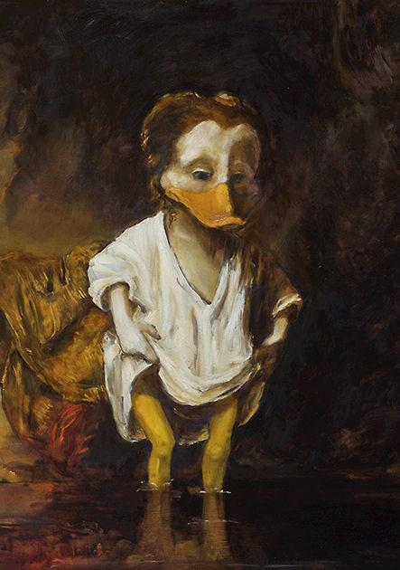 "Postkarte ""Die Badende"" , nach Rembrandt"
