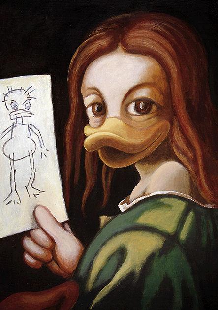 """Postkarte """"Kind mit Zeichnung"""""""