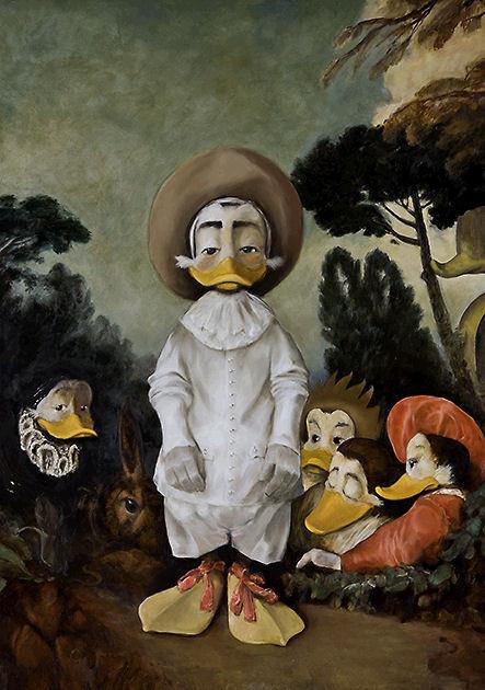 """Postkarte """"Gilles"""" , nach Watteau"""