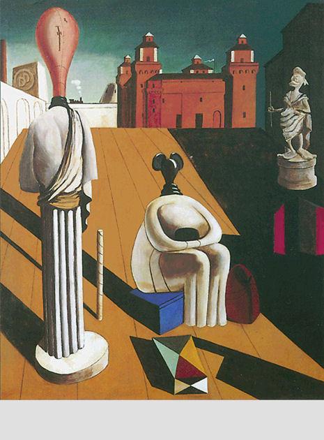 "Postkarte ""pittura metafisica"""