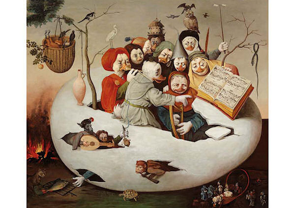 »Das Konzert im Ei« nach der Werkstatt von Hieronymus Bosch