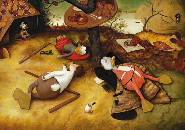 »Das Schlaraffenland« nach Pieter Brueghel dem Älteren