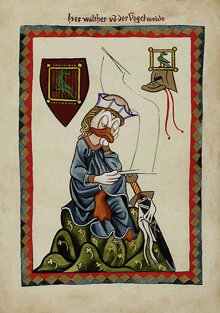 """Postkarte """"Codex Manesse"""""""